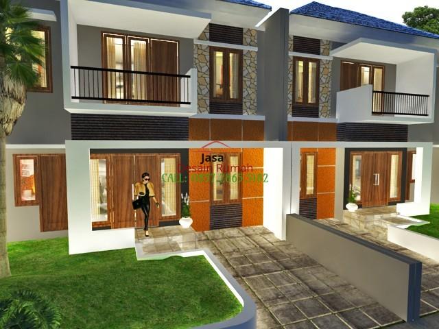 Gambar Rumah Minimalis 2 Lantai Dengan Taman dan Carport di Bagian Depan Rumah