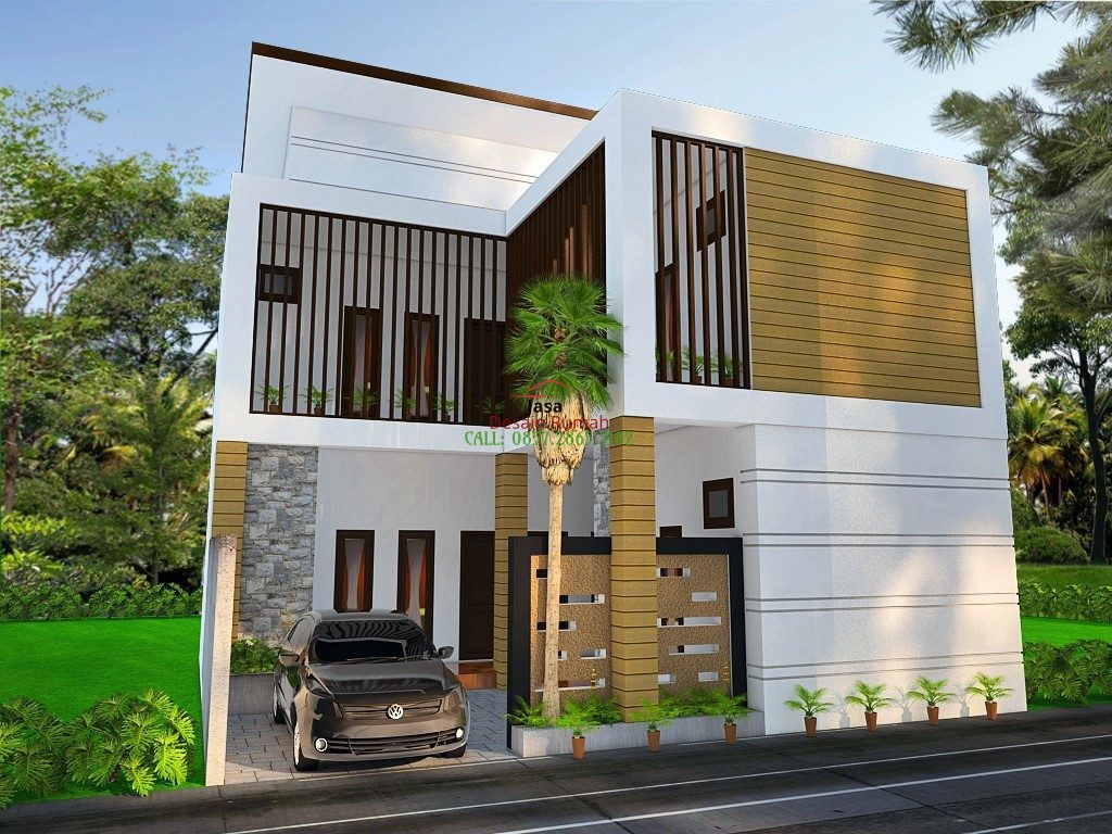 Kost Eksklusif Minimalis Modern 2 Lantai Dengan Garasi Mobil