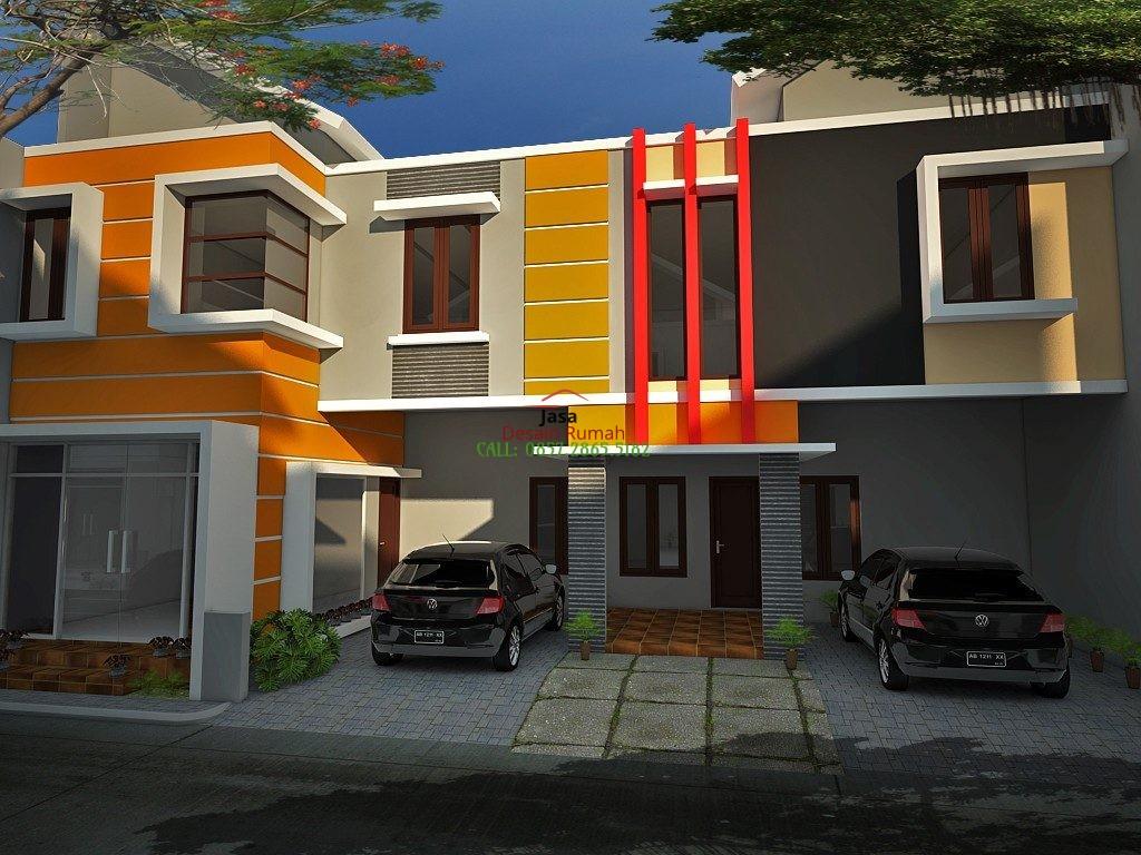 Ruko Minimalis 2 Lantai Dengan Carport dan Pintu Kaca di Bagian Depan