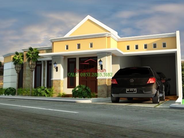 Rumah Minimalis 1 Lantai Dengan Garasi dan Taman Depan Rumah