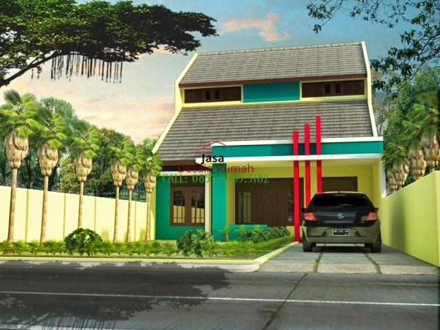 Rumah Minimalis 1 Lantai Dengan Loteng dan Carport Garasi Mobil