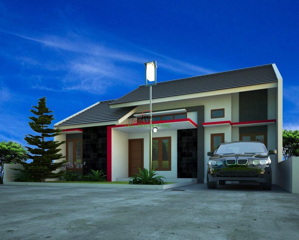 Rumah Sederhana Type 36 Dengan Taman Minimalis di Bagian Depan Rumah