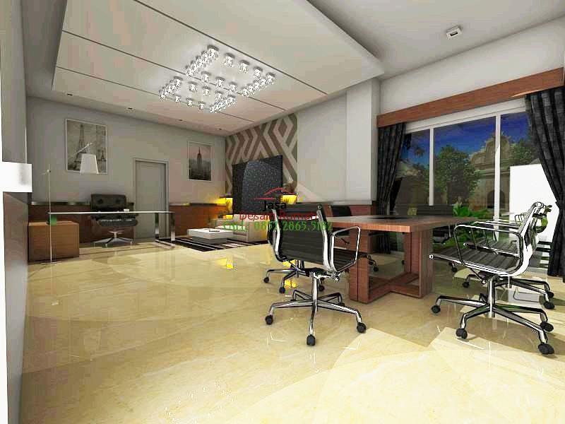 Contoh Desain Interior Ruang Tamu Digabung Dengan Ruang Kerja Dan Ruang Meeting